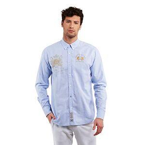 La Martina Pmc310 Camisa Casual, Azul (Cornflower Blue 07032), XX-Large para Hombre