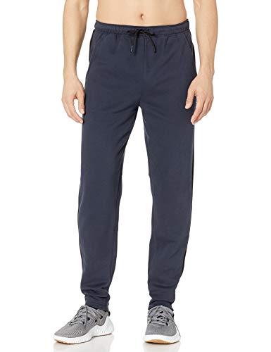 Peak Velocity Pantalón de Forro Polar de Peso Medio. Athletic-Sweatpants, Marino, US S (EU S)