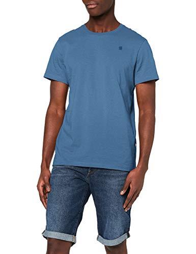 G Star Raw Base-s r t s/s Camiseta, Azul (Delft 336-825) Hombre