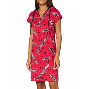 Moschino Love Moschino Kleid Vestido Casual, Gym Print On Red Background, 44 para Mujer