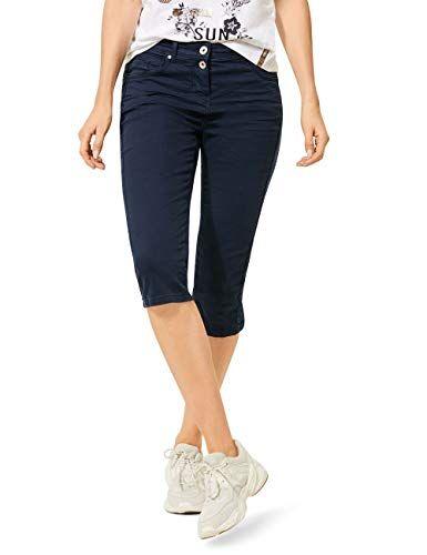 Cecil 373138 Vicky Im Slim Fit Pantalón, Azul Profundo, W29/L19 para Mujer