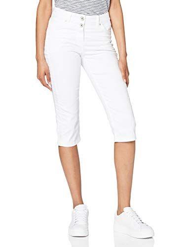 Cecil 373138 Vicky Im Slim Fit Pantalón, Blanco, W31/L19 para Mujer