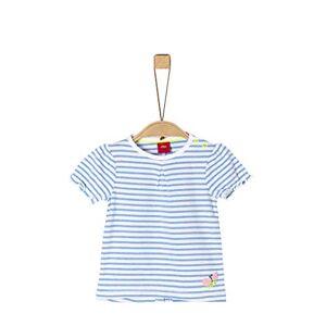 s.Oliver Junior T-Shirt Baby Girls Camiseta, 53g6 Blue Stripes, 68 para Bebés