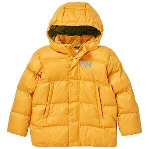 Helly Hansen Vika Puffy Insulated Water Repellant Hooded Jacket Abrigo de Vestir, 343 Golden Glow, 6 Unisex niños