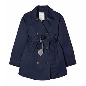 NAME IT Nkfmetrine Trench Coat Gabardina, Dark Sapphire, 134 para Niñas