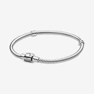 Pandora - Pulsera de eslabones de serpiente con cierre de cilindro, 15 cm, Metal precioso., No aplicable,