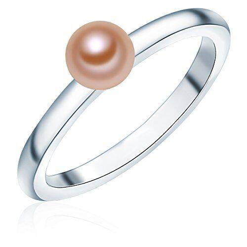 Valero Pearls - Anillo embellecido con Perlas de agua dulce - 925 Plata esterlina - Pearl Jewellery - complementos de mujer - En diferentes tamaños, Anillo de Plata esterlina - 60925028