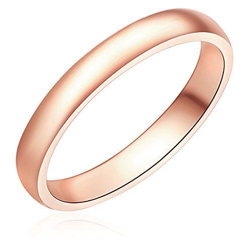 Nahla Jewels - Anillo - 925 Plata esterlina (chapada en oro rosa) - complementos de mujer - En diferentes tamaños, Anillo de Plata esterlina, Joyería de plata - 60171093