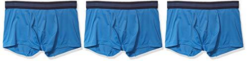 Goodthreads Paquete de 3 Troncos Ligeros de Punto. Trunks-Underwear, Azul Sea, S