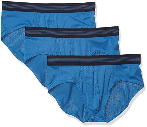Goodthreads 3-Pack Lightweight Performance Knit Brief Briefs-Underwear, Azul Sea, M, Pack de 3