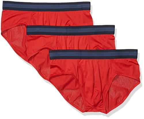 Goodthreads 3-Pack Lightweight Performance Knit Brief Briefs-Underwear, Rojo, XS, Pack de 3