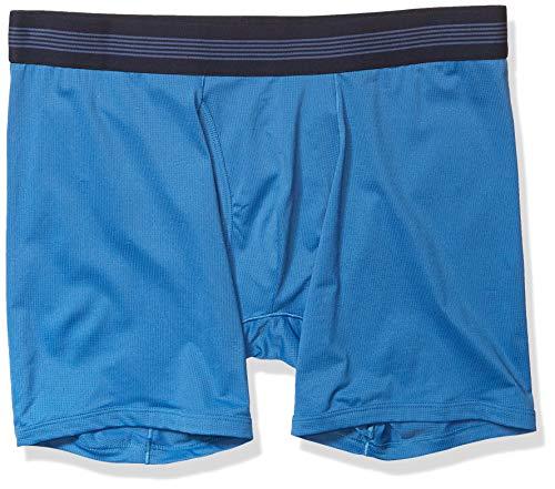 Goodthreads 3-Pack Lightweight Performance Knit Boxer Brief Briefs, Azul Sea, XL
