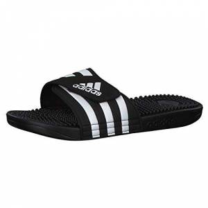 Adidas Adissage Zapatos de playa y piscina Unisex adulto, Negro (Negro 000), 40 1/2 EU (7 UK)