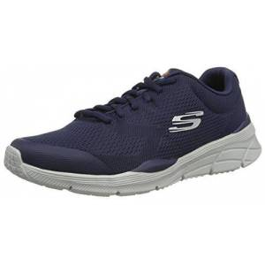 Skechers Equalizer 4.0, Zapatillas para Hombre, Azul (Navy Engineered Mesh/Hot Melt/Trim Nvy), 44 EU
