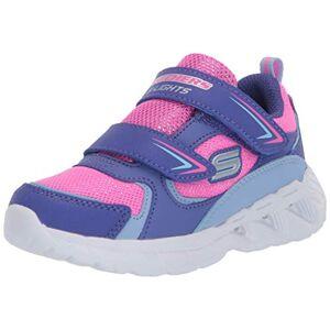 Skechers Magna-Lights, Zapatillas para Niñas, Morado (Purple Textile/HT. Pink Trim Prhp), 22 EU