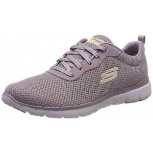 Skechers Flex Appeal 3.0-First Insight, Zapatillas para Mujer - Morado (Purple Mesh/Purple Trim Pur) - 35.5 EU