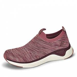 Skechers Solar Fuse-Lite Joy, Zapatillas para Mujer, Malla de Punto Malva púrpura con Ribete Blanco MVE, 35.5 EU