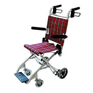 Queraltó Silla de ruedas para transporte de pacientes, Facilita el traslado de usuarios, Con tapicería alegre y estampada, Ruedas traseras pequeñas de 15 cm de diámetro