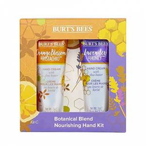 Burt's Bees Kit para manos hidratante de 2 artículos con mezcla botánica Burt's Bees con 1 crema de manos con lavanda y miel (28,3g) y 1 crema de manos con flor de azahar y pistacho (28,3g)