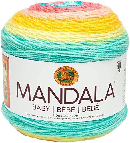 lion brand yarn company mandala - ovillo de lana para bebé (acrílico, moño de abeja, 13,97 x 13,97 x 11,43 cm)