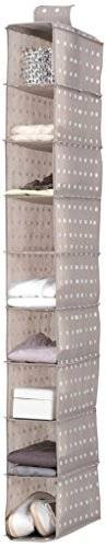 """Compactor RAN4382_Brown - Estantería colgante flexible para calzado y ropa, 9 Compartimentos, Fijación con velcro, Hasta 12kg, Marrón """"RIVOLI"""", Polipropileno, 15 x 30 x H. 128 cm"""