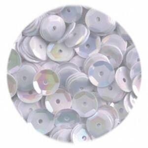 efco Lentejuelas ahuecadas Redondo, Color Blanco, 6mm, 40g, 4000-piece