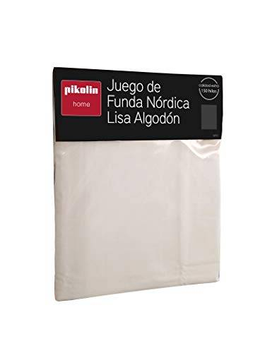 pikolin home - juego de funda nórdica con bajera y funda de almohada 100% algodón 150 hilos calidad extra. cama 90-90x190/200cm (todas las medidas)