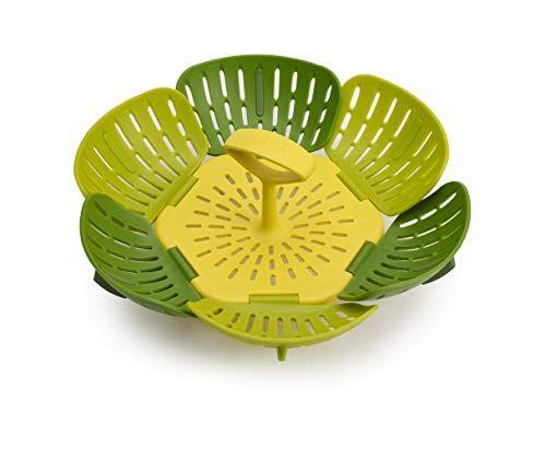 joseph joseph 45030 bloom cesta vaporera plegable-verde, plastic