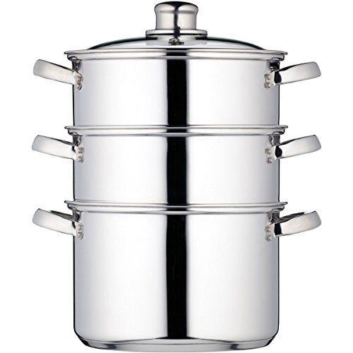 kitchen craft kccvsteam20 - vaporera de 3 pisos