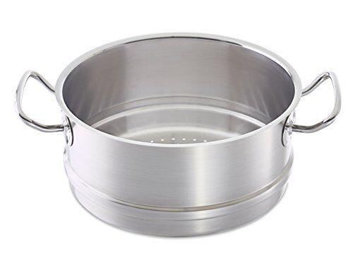 fissler profi collection complemento para vaporera compatible con ollas aptas para cocinas de inducción, gas, vitrocerámica y eléctricas, acero inoxidable, plateado, 24cm