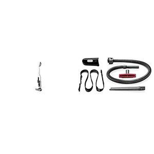 Bosch BCH6ATH25K Athlet - Aspirador escoba + Kit de accesorios. 25.2 V, sin bolsa, autonomía hasta 60 minutos, depósito 0.9 l, color blanco + BHZPROKIT Kit de accesorios para aspiradora, 7800 W