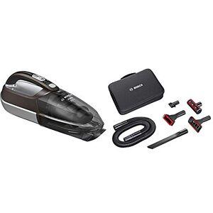 Bosch BHN2140L Move Lithium Aspirador, 0.4 litros, Plástico, Marrón/gris traslúcido/plata + Home and Car Kit de Accesorios Mano Move y aspiradores sin Cable Readyy'y, 0 W, Plástico, Negro