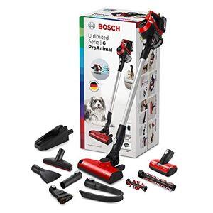 Bosch Unlimited ProAnimal Serie 6 Aspirador sin Cables, 2 Velocidades, Rojo