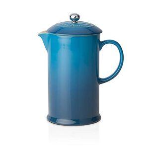 Le Creuset Cafetera Francesa con Prensa de Acero Inoxidable, Cerámica de gres, Azul(Marseille), 800 ml