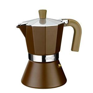 Monix M670006 Cafetera Italiana, 6 Tazas, incrementa la conectividad a Todo Tipo de Placas de inducción, Aluminio, Marrón
