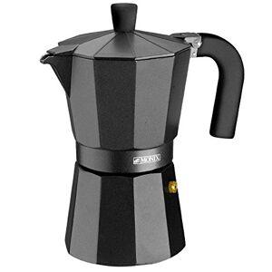 Monix Vitro Noir  Cafetera Italiana de Aluminio, Capacidad 9 Tazas, Apta para Todo Tipo de cocinas Salvo inducción