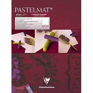 Clairefontaine para Pastelmat - Blanco 360 G 18 x 24 cm 12 Hojas