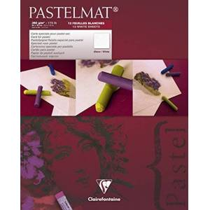 Clairefontaine para Pastelmat - Blanco 360 G 24 x 30 cm 12 Hojas