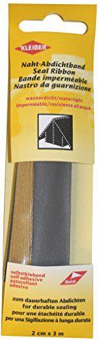 kleiber - cinta de reparación de costuras de tela, impermeable, autoadhesiva, para tiendas de campaña, abrigos, paraguas, etcétera, 3 m x 2 cm, color gris oscuro