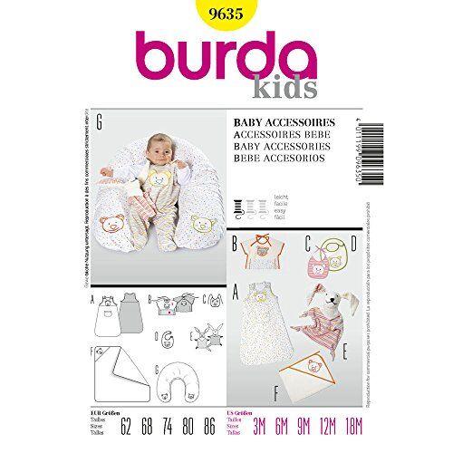 Burda B9635, Accesorios para Bebé, 62-86 EU