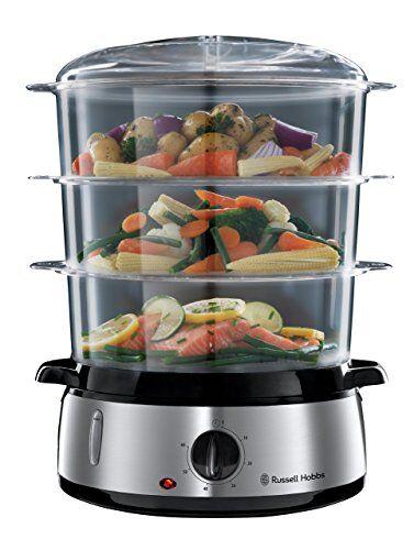 russell hobbs cook@home referencia 19270-56 vaporera, 800 w, cocina lenta, sin bpa, acero inox, capacidad para 9 litros