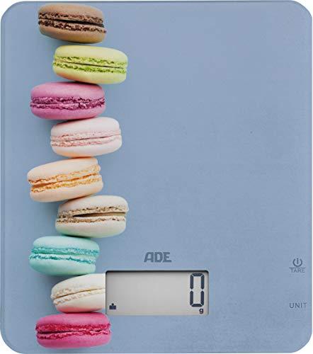 ade báscula de cocina digital ke 1718 lucy. electrónica. diseño unico, colorido-macaron. precisa capacidad hasta 5kg. para líquidos y función de tara, pantalla lcd. incluye baterias.