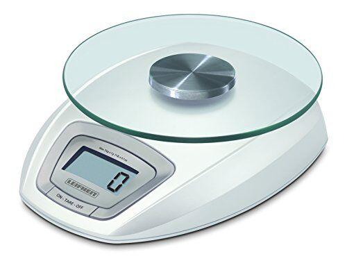 leifheit 3173 - báscula de cocina digital con plato de cristal