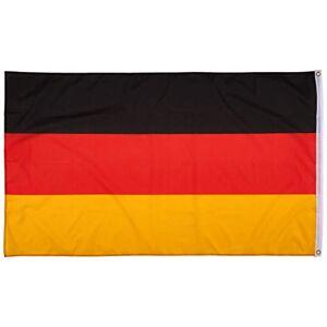 Fahnenwelt 16117 - Bandera de Alemania con 2 Anillos de Metal, 150 x 90 cm