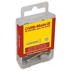 Ulti-Mate II S40016S Caja pequeña con tornillos de alto rendimiento para madera acabado BICROMATADO de 4,0 x 16 mm, Set de 15 Piezas