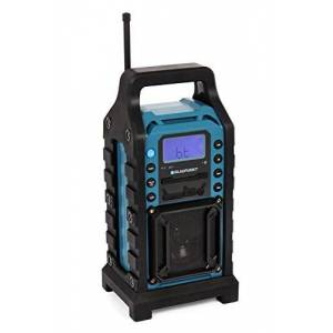 Blaupunkt BSR 10obras con radio PLL FM, Bluetooth, USB, SD, Aux-in, carcasa robusta, funciona con batería Azul