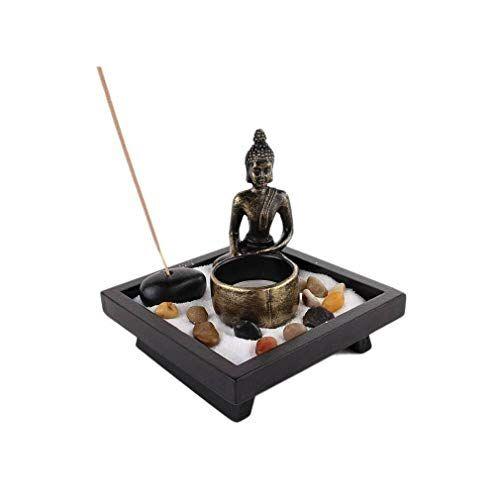 lachineuse Jardin Zen japonés  Buda meditación  Vela e Incienso  Decoración Zen