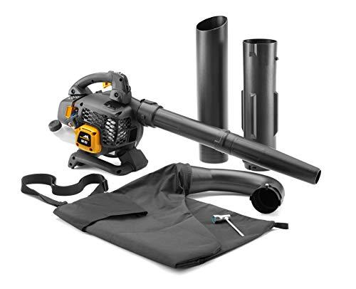 mcculloch 00096-78.652.01 gbv soplador aspirador de gasolina para jardín con motor de 800 vatios, potencia de aspiración de 45l, 322km/h