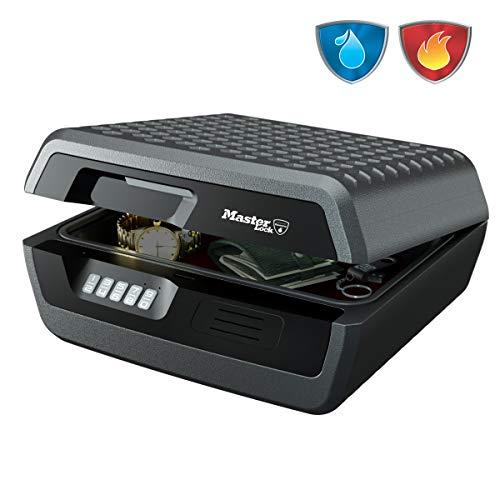 master lock caja fuerte portatil [ignifuga y impermeable] [combinación] [large] chw30300eurhro - ideal para a4 documentos, dispositivos electrónicos, soporte multimedia, pequeños