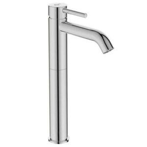 Ideal Standard Ceraline - Grifo mezclador para lavabo de apoyo, sin barra de control de desage ni desage, cromado